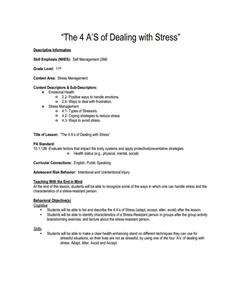 The 4 A'S of Dealing with Stress Lesson Plan