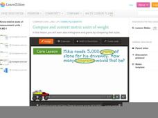 Compare and Convert Metric Units of Weight Video