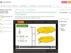 Represent Fractional Distance Measurement Quantities Using Diagrams Video