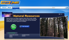 Study Jams! Natural Resources Interactive