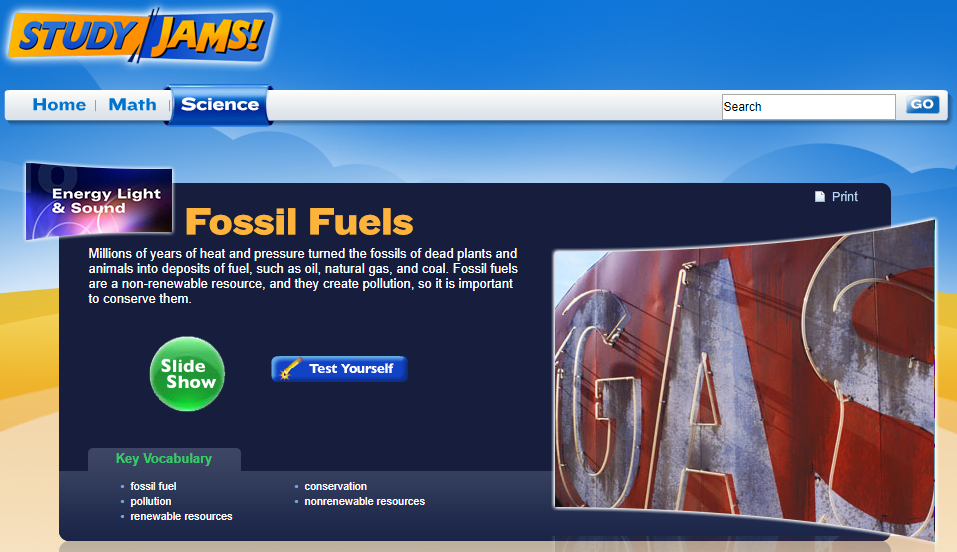 Study Jams! Fossil Fuels Interactive