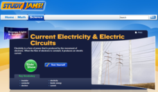 Study Jams! Current Electricity & Electric Circuits Interactive