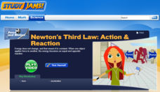 Study Jams! Newton's Third Law: Action & Reaction Interactive