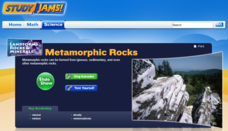 Study Jams! Metamorphic Rocks Interactive