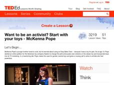 Want to be an Activist? Start with Your Toys Video