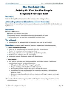What You Can Recycle Lesson Plan