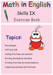 Math in English Skills IX Exercise Book Worksheet