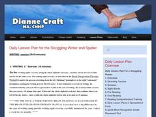 Daily Lesson Plan for the Struggling Writer and Speller Lesson Plan