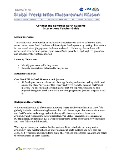 Hydrosphere Lesson Plans Worksheets Reviewed By Teachers