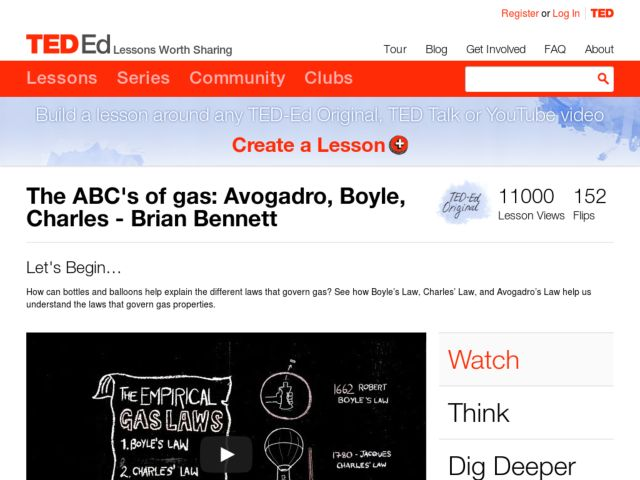 The ABC's of Gas: Avogadro, Boyle, Charles Video