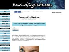 How to Improve Eye Tracking to Make Reading Easier Lesson Plan