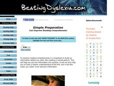 Simple Preparation Can Improve Reading Comprehension Lesson Plan