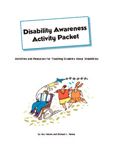 Disability Awareness Activity Packet Activities & Project