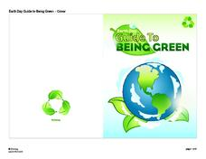 Earth Day Guide to Being Green Handouts & Reference