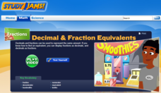Study Jams! Decimal & Fraction Equivalents Interactive