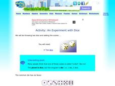 Activity: An Experiment with Dice Activities & Project