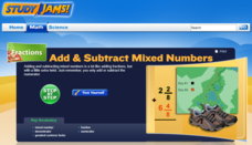 Study Jams! Add & Subtract Mixed Numbers Interactive