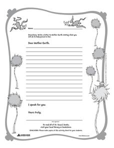Dear Mother Earth Printables & Template