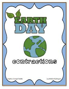 Earth Day Contractions Printables & Template