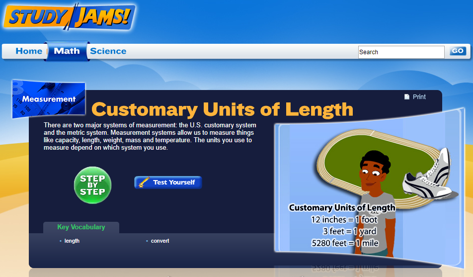 Study Jams! Customary Units of Length Interactive