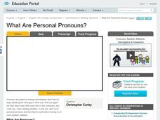 What Are Personal Pronouns? Video