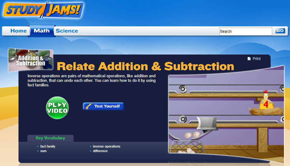 Study Jams! Relate Addition & Subtraction Interactive
