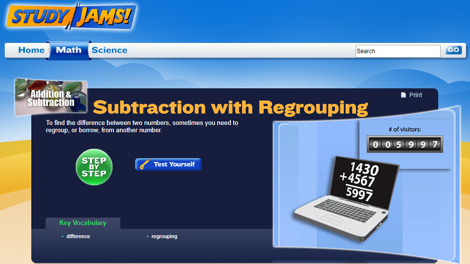 Study Jams! Subtraction with Regrouping Interactive