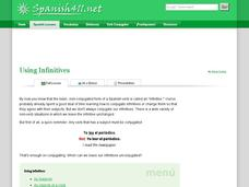 Using Infinitives Presentation