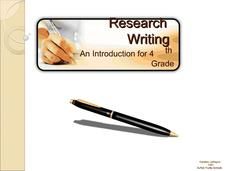 Research Writing: An Introduction for 4th Grade Presentation