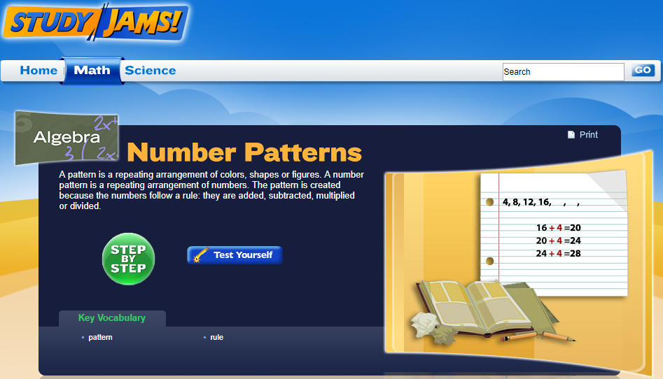 Study Jams! Number Patterns Interactive