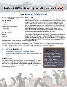 One Ocean: It Matters! Activities & Project