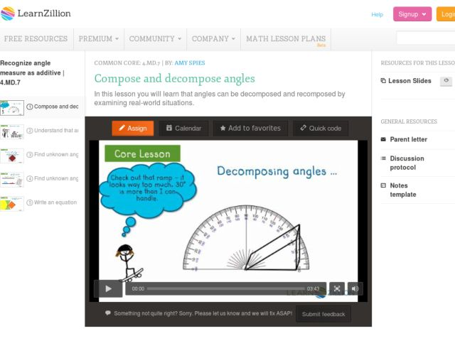 Compose and Decompose Angles Video