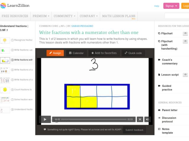 Write Fractions with a Numerator Other than One Video
