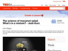 The Science of Macaroni Salad: What's in a Mixture? Video