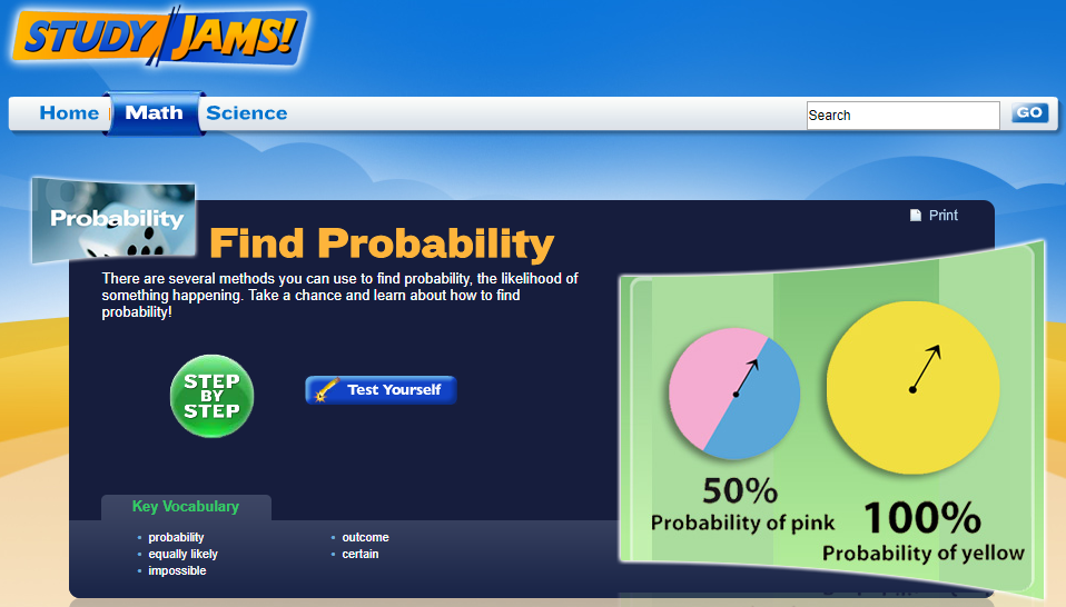 Study Jams! Find Probability Interactive