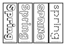 Spring Bookmarks Printables & Template