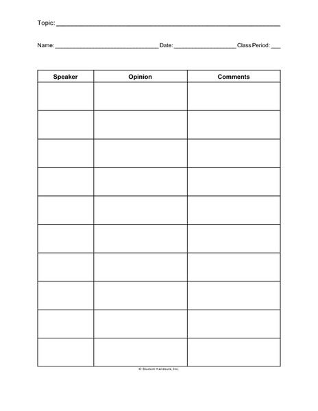 Group Discussion Notes Printables & Template
