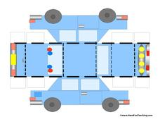 police car craft printables template for 1st 3rd grade lesson