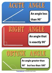 Amazing Angles Printables & Template