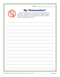 "My ""Uninvention"" Printables & Template"