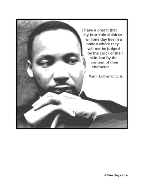 I Have A Dream Poster Printables Template For 1st 12th