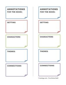 Annotations Bookmark Printables & Template