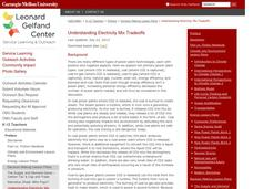 Understanding Electricity Mix Tradeoffs Lesson Plan