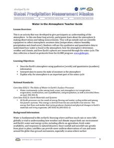 Water in the Atmosphere Lesson Plan