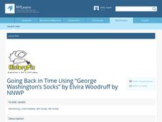 "Going Back in Time Using ""George Washington's Socks"" Lesson Plan"