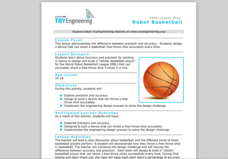 Robot Basketball Lesson Plan