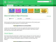 Direct & Indirect Object Pronouns Handouts & Reference