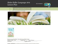 Helen Keller Language Arts Lesson Plan Lesson Plan