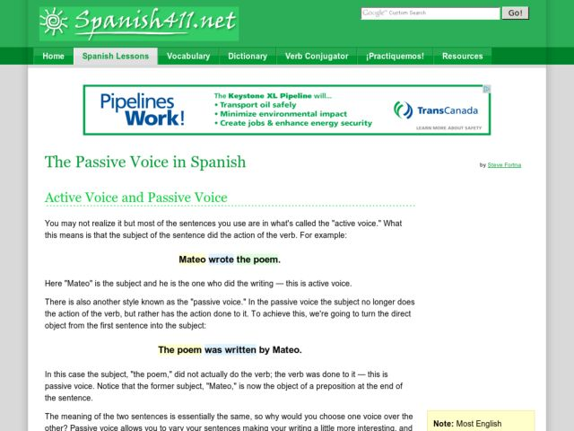 The Passive Voice in Spanish Lesson Plan