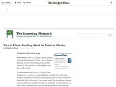 Kiev in Chaos: Teaching About the Crisis in Ukraine Lesson Plan